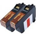 Ultimail 60 / 65 / 90 / 95 FP Replacement Red Francotyp Postalia Franking Ink Cartridge - Pack of 2