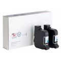Postbase Qi FP Genuine BLUE 58.0052.3046.00 Mailmark Franking Ink Cartridge 20ml - PAIR